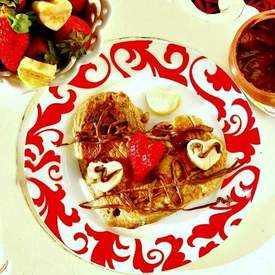 Banana Bread Pancakes with Nutella