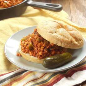 Vegan Cajun Tempeh Sloppy Joes