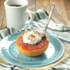 Broiled Grapefruit with Whipped Coconut Cream