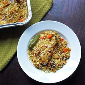 Indian Curried Chicken and Rice (Biryani)
