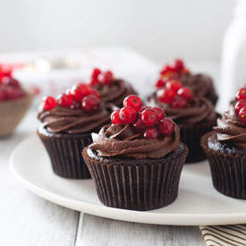 Double Chocolate Cupcakes with Berries