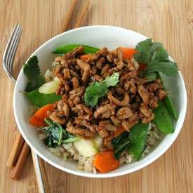 Sesame Pork Stir-Fry Bowl