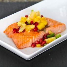 Salmon with Pomegranate Salsa