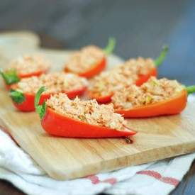 Salmon Stuffed Peppers