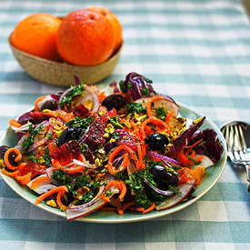 radicchio, carrot and blood orange salad