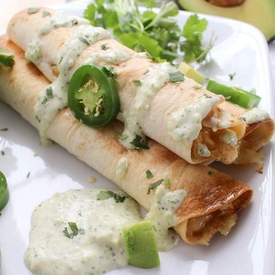 Cheesy Chicken Jalapeno Popper Taquitos