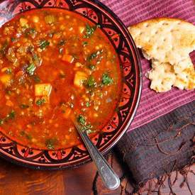 Moroccan Harira (Spicy Lentil) Soup