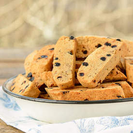 Blueberry Pecan Biscotti