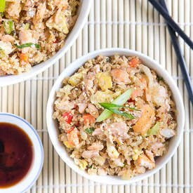Salmon Quinoa 'Fried Rice'