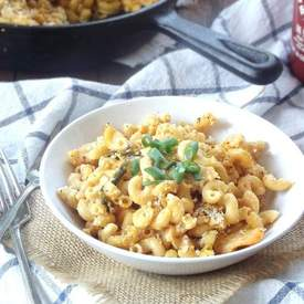 Vegan Kimchi Mac and Cheese
