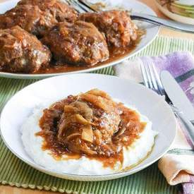 Salisbury Steak w/Onion Gravy