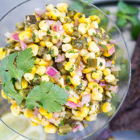 Roasted Corn & Poblano Salsa