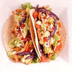Piled High Pulled Chicken Tacos