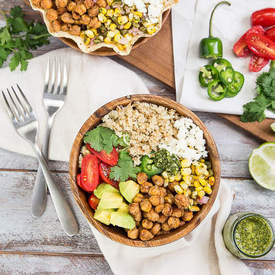Chickpea & Cauliflower Burrito Bowl