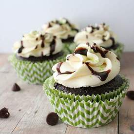 Chocolate Guinness Cupcakes with Irish Cream