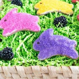 Whole Wheat Blackberry Easter Cookies