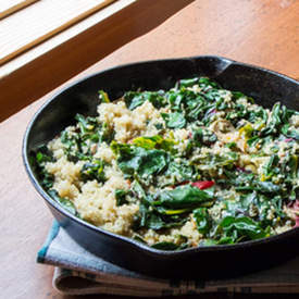 Lemony Swiss Chard and Quinoa Sauté