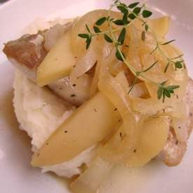 Pork Chops with Brandied Apples and Onions