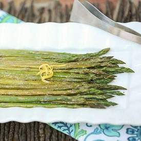 Roasted Asparagus with Mustard Balsamic Vinaigrett