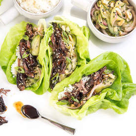 Korean Short Rib Lettuce Wraps