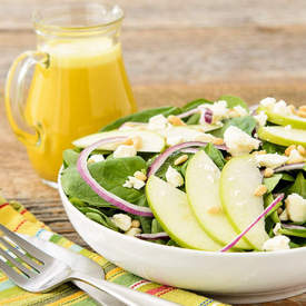Spinach Salad with Tangerine Dressing