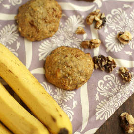 Banana and Walnut Cookies (Dairy Free)