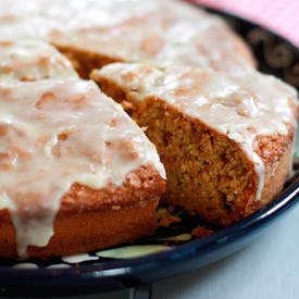 Cinnamon, apple carrot cake