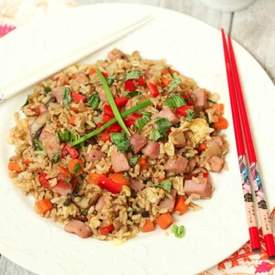 Pepper Fried Rice with Ham