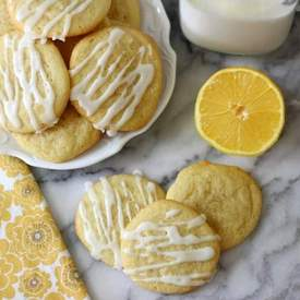 Lemon Sugar Cookies with Lemon Glaze