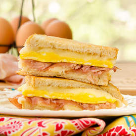 Egg Prosciutto Grilled Cheese Sandwich