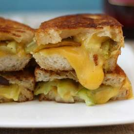 Garlicky Anaheim Pepper Grilled Cheese