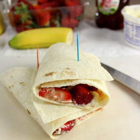 Strawberry Banana Rollups