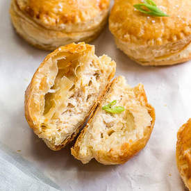 Crab Rangoon Mini Pastry Puffs