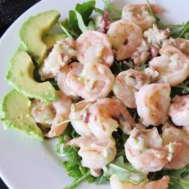Shrimp Salad with Avocado Ranch Dressing