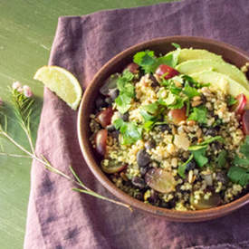 Mixed Grains Salad with Black Beans