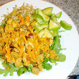 Tofu Scramble with Avocado