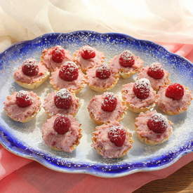 Raspberry Mascarpone Mini Tarts