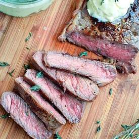 Pan-Seared Steak with Garlic Butter