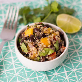 BLACK BEAN-QUINOA-MANGO SALAD