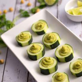 ROASTED JALAPEÃ'O AND CILANTRO HUMMUS CUPS