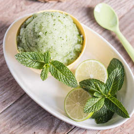 5-Minute Refreshing Mojito Sorbet