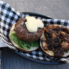 Gorgonzola Stuffed Burgers