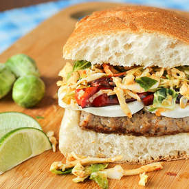 Sausage Mozzarella Sandwich with Chipotle Slaw