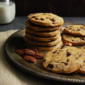 Chocolate Chip Pecan Icebox Cookies