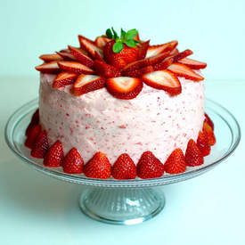 4 Layer Fresh Strawberry Cake