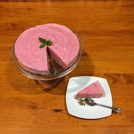 Berry and mint ice cream cake
