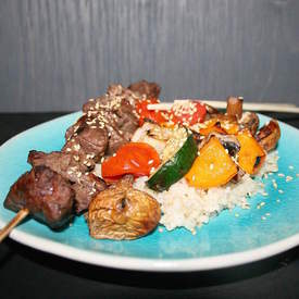 Asian Grilled Beef Skewers