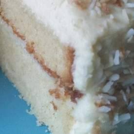 White Chocolate and Coconut Cake