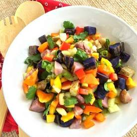 Grilled Rainbow Potato Salad