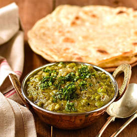 green pea and coconut dhal